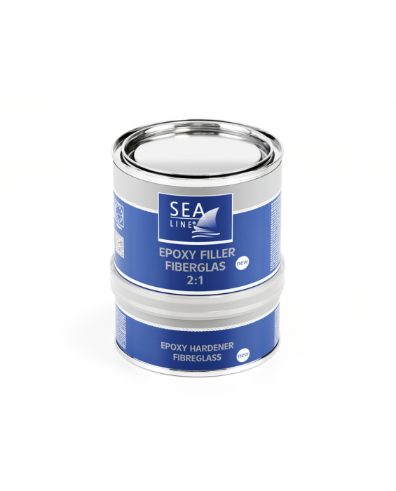 SEALINE: EPOXY FILLER WITH FIBERGLASS 2:1   0,75 kg